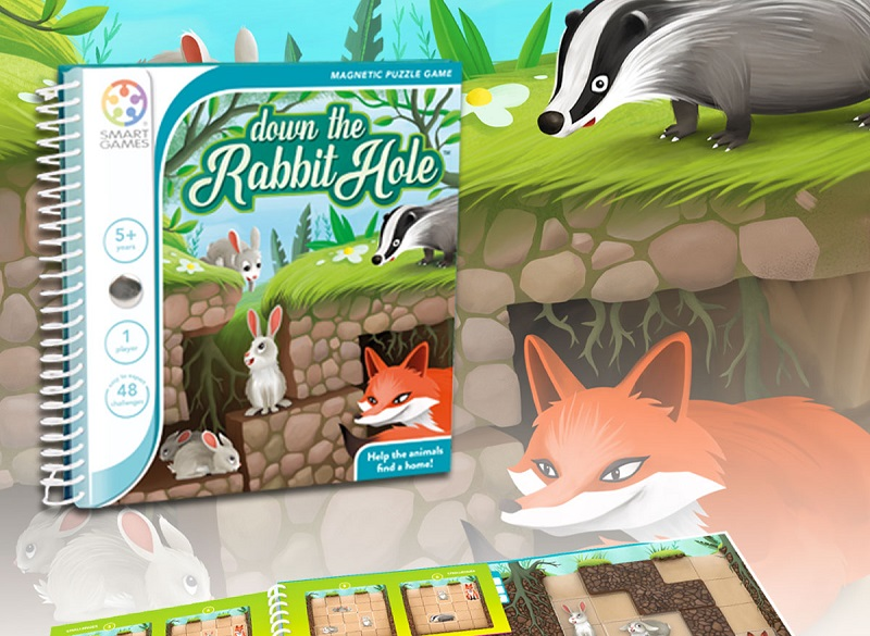 Smart Games miselna igra Down the Rabbit Hole