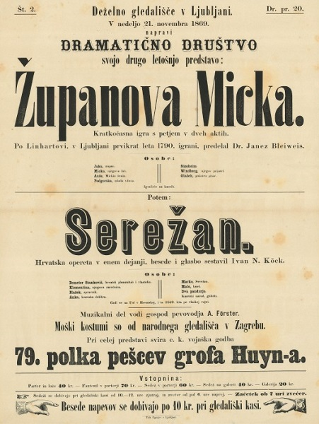 Plakat za Županovo Micko